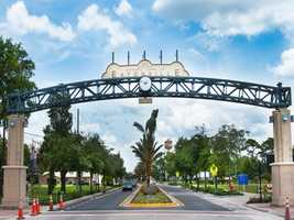 As part of the city's plan to bring greater recognition to the town, they are currently renovating their main street, Kennedy Boulevard. This project includes updating drainage, the streetscape, and placing two large iconic gateways, which features the city's seal and as well as a clock.