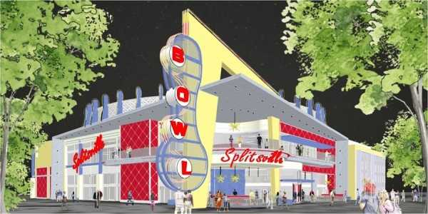 The Downtown Disney location will be the biggest of five Splitsville locations.
