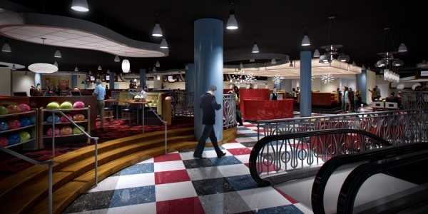 Splitsville will include 30 bowling lanes, billiards, dining, music and nightlife.