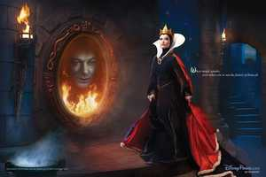 Alec Baldwin makes an appearance as the spirit in the mirror as Olivia Wilde plays the evil queen in 2011 Disney Dream pictures.