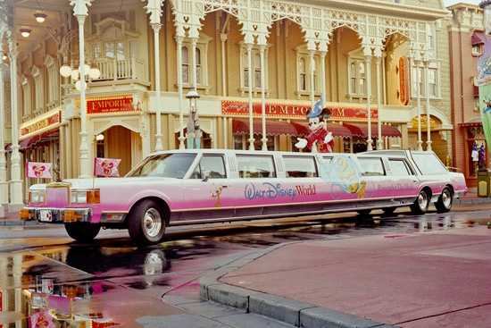 For the 25th Anniversary of the Walt Disney World Resort, the liMOUSEine got a new paint job.