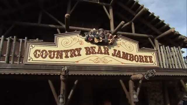 """Now here they come, those little sunbonnets from the sunshine state – Bunny, Bubbles and Buelah,"" can be heard at the Country Bear Jamboree at the Magic Kingdom Park."