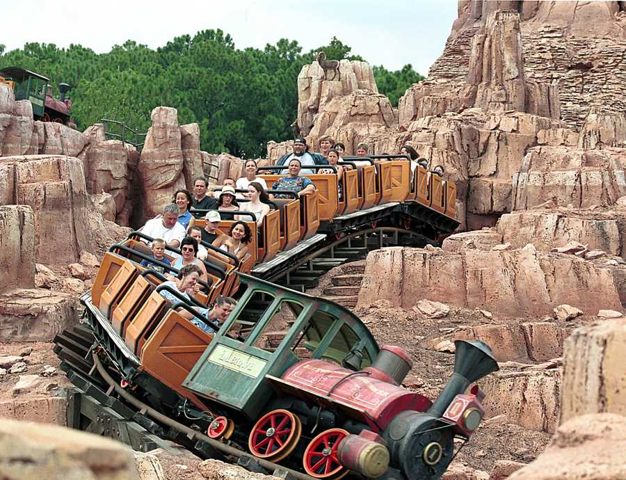 "You'll get the ""wildest ride in the wilderness"" on the Big Thunder Mountain Railroad at the Magic Kingdom."