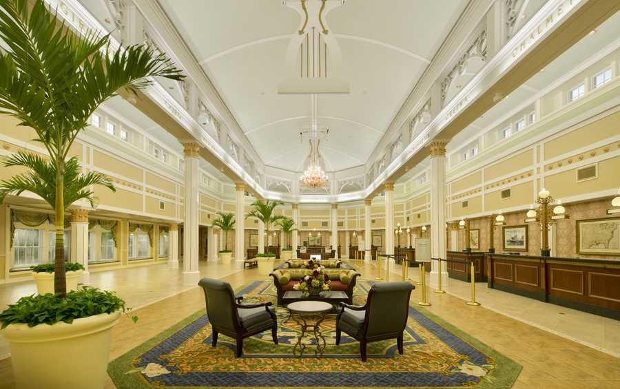 The lobby of Disney's Port Orleans Riverside reopened recently after a two-month renovation.