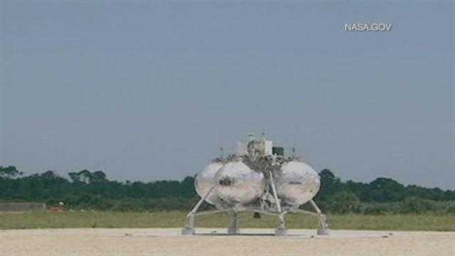 A prototype NASA spacecraft exploded on lift-off during a test flight at Kennedy Space Center on Thursday afternoon.
