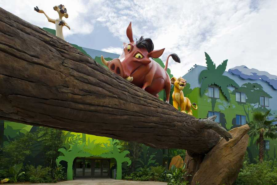 Disney's newest resort opened its third wing, Lion King, to guests Friday morning.