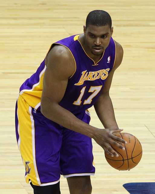 Lakers' center Andrew Bynum is heading to Philadelphia.