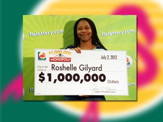 Roshelle Gilyard of Fort Lauderdale won $1 million.