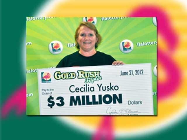 Cecilia Yusko of West Palm Beach won $3 million.