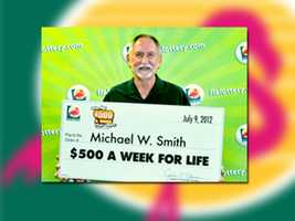 Michael W. Smith of Jacksonville won $500 per week for life.