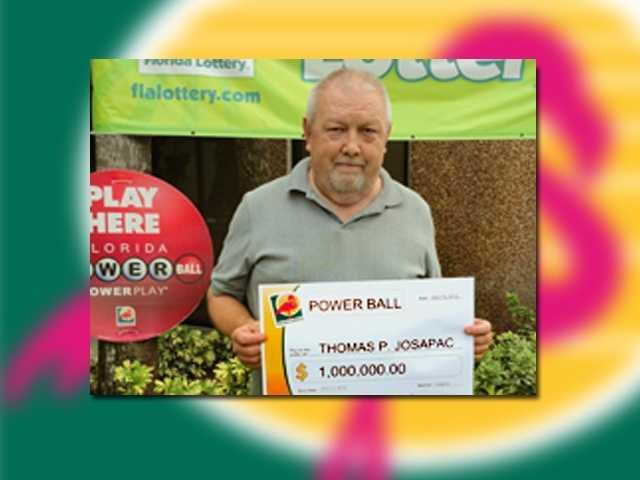 Thomas Josapak of Palm Harbor won $1 million.