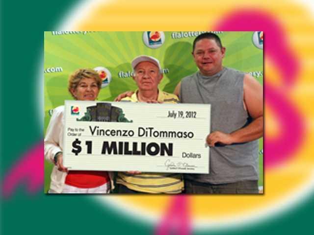 Vincenzo DiTommaso of Hialeah won $1 million.