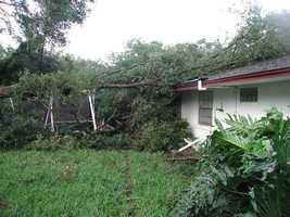 Damage in Altamonte Springs.
