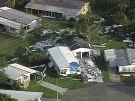 This damage in Orlando was seen from the WESH chopper.