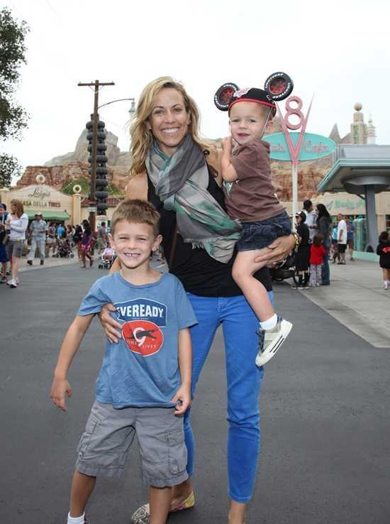 Sheryl Crow and her sons, Wyatt and Levi, recently visited Cars Land at Disney California Adventure Park.