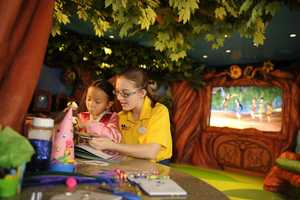 Pixie Hollow is a space for children to be transported to the land of Tinker Bell and all of her fairy friends.