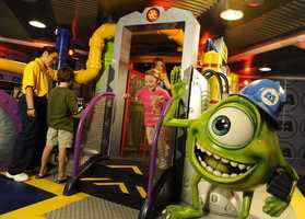 Children on board of the Disney Fantasy and Disney Dream can experience Monster's Academy.  The space is an interactive area inspired by Monsters, Inc.
