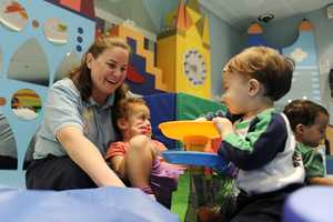 In the nursery, little ones can participate in interactive, hands-on features.