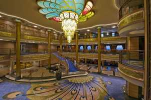 The second chandelier is the from the atrium of the Disney Fantasy.