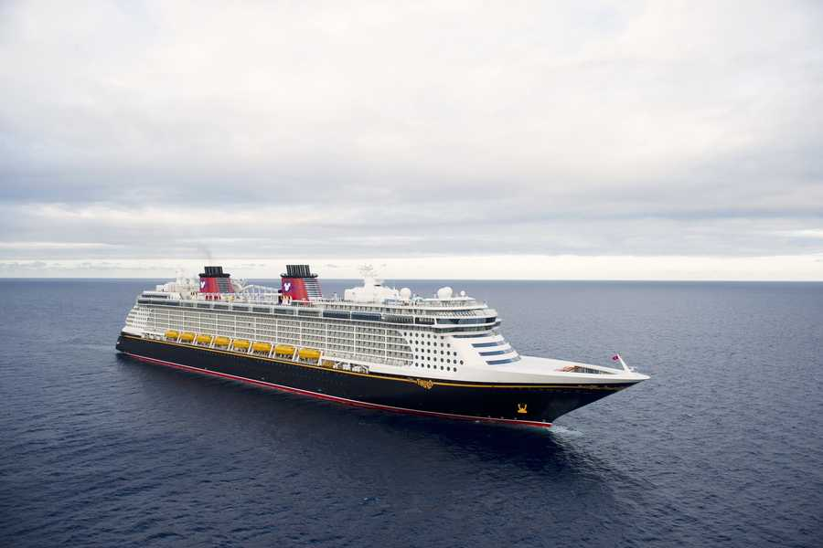 The Disney Fantasy claims the bow in the first picture.