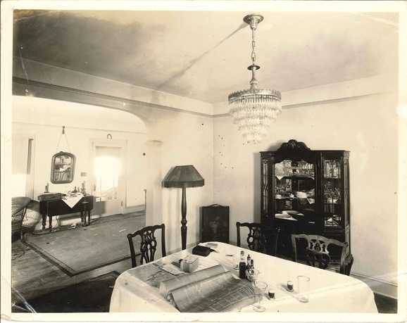 This FBI photo shows the dining room after the shootout.