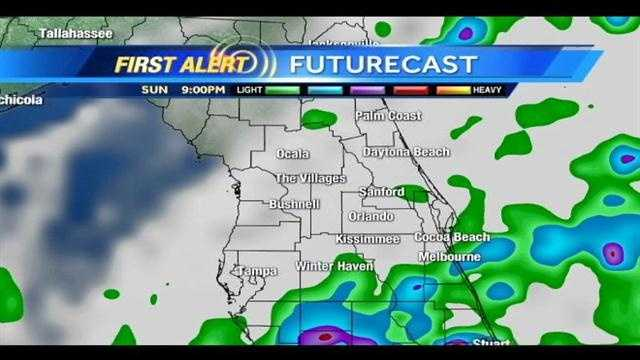 See an hour-by-hour look at storms expected Sunday night into Monday morning.