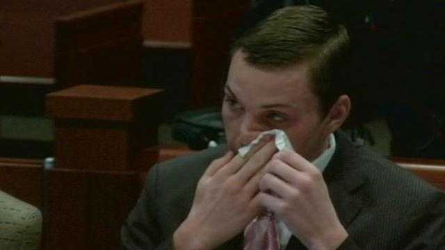Matthew Scheidt cried in court Wednesday as testimony continued in the case against him.