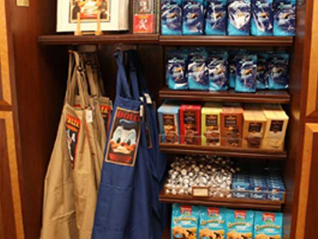 Disney says the items won't be carried at the Disney online store, but the merchandise will be readily available at the Epcot Food and Wine Festival.