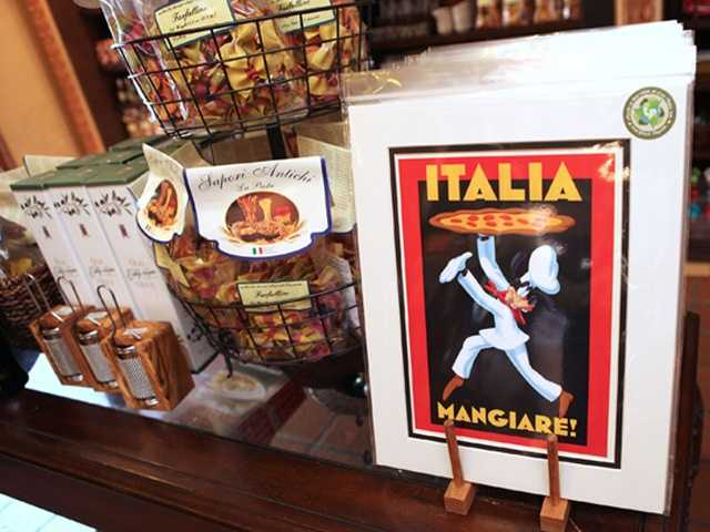 Disney representatives say romantic Italian posters influenced some of the new merchandise that just hit the shelves at the Italy pavilion inside Epcot.