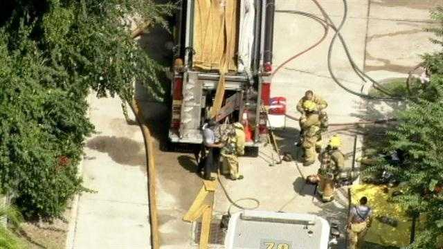 Orange County fire rescue responded to a house fire on Treasure Oaks Lane in Orlando Tuesday.
