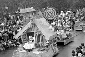 The Very Merry Christmas Parade in the 1970s.