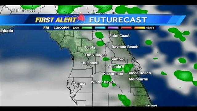 See an hour-by-hour look at rain expected Friday and Saturday.