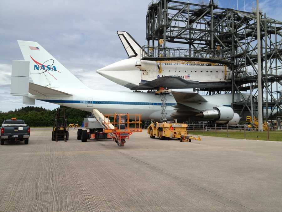 The shuttle will be flown to Los Angeles on Monday.