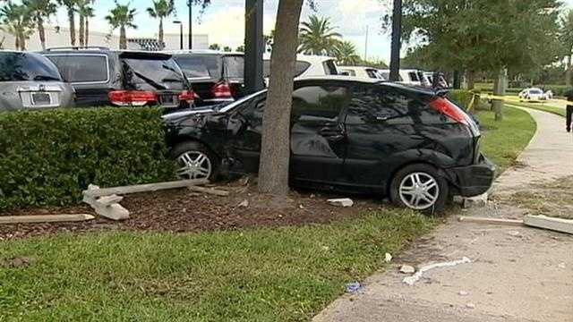 Orlando police say they are trying to figure out if a street race caused a hit-and-run accident that sent two people to the hospital.