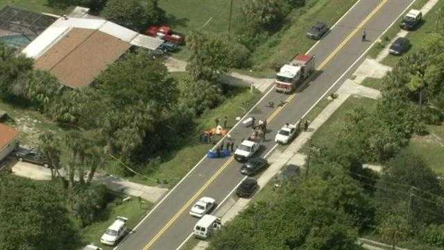 Officials in Brevard County are investigating a body that was found in a ditch Tuesday.