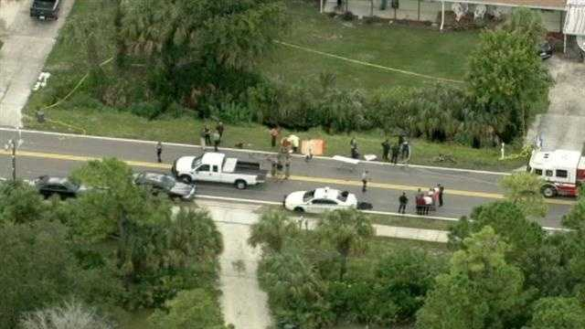 Investigators said the body was found at 9 a.m. near Lake Ontario Street and Canaveral Groves Boulevard.
