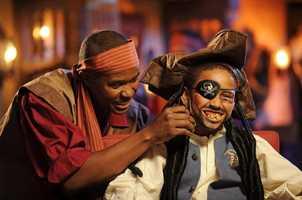 New pirates can participate in a Pirate Parade through Adventureland.