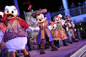 4. The Pirates IN the Caribbean Deck Party on board Disney Cruise Line.