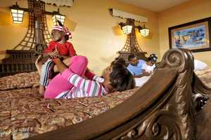 6. Pirate-themed rooms at Disney's Caribbean Beach Resort.