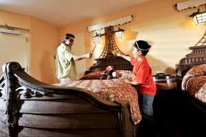 """The rooms feature """"pirate ship beds, buccaneer accessories and swashbuckling decor."""""""