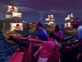 7. Pirates of the Caribbean: Battle for Buccaneer Gold at Disney Quest.