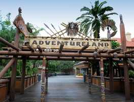 Ye skulls are part o'th'Adventureland sign at Magic Kingdom. If ye be guessin' correctly, then we raise the colors and thank ye until our next mystery image adventuaarrr!