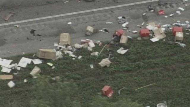 The Southbound lanes Florida's Turnpike were blocked Friday morning by a deadly crash.