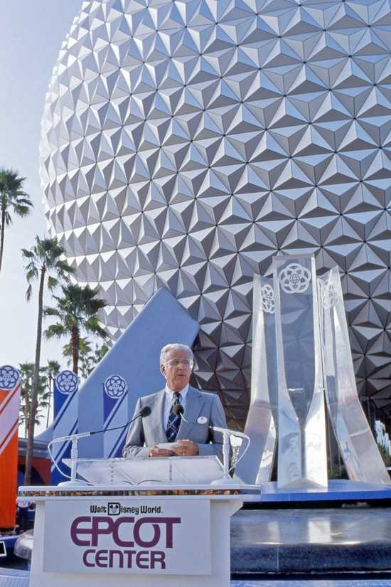 "EPCOT (Experimental Prototype Community of Tomorrow) was one of Walt Disney's original ideas for the ""Florida Project"".  Card Walker, the president of Walt Disney Productions, first announced the idea for EPCOT in 1974."