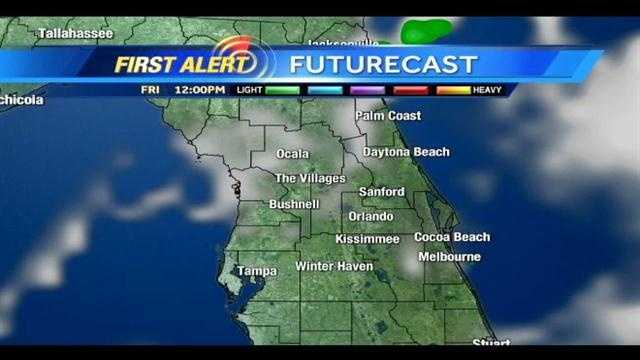 See when scattered storms are expected in Central Fla. today.