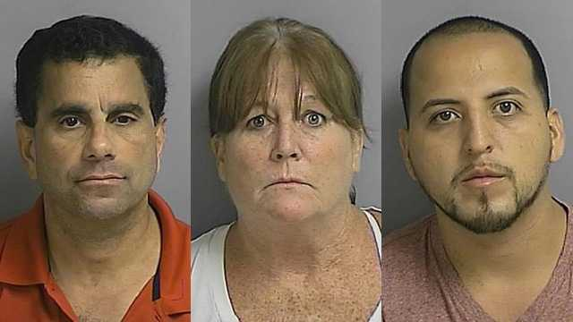 Joseph Trerrotola, 56, of Kissimmee, Maureen McHale, 53, of Kissimmee, and Jason Cordero, 27, of Orlando, were arrested and charged with resale of multi-day tickets.