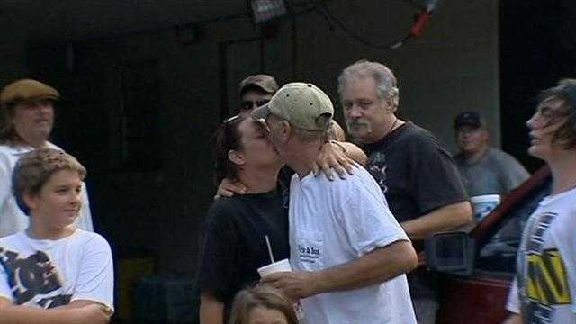 Survivor in Titusville shooting returns home