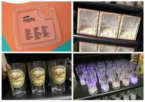 New in 2012 is a food tray that contains a checklist and a place to hold stemware glasses.