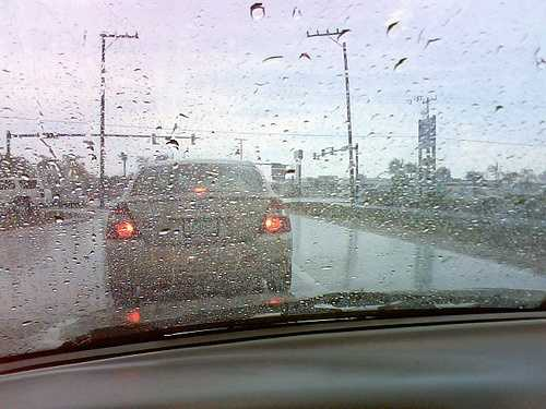 5. When are roads most slippery? During the beginning, middle or end of a rainstorm?