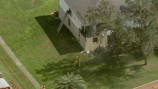 Video from Chopper 2 showed a back portion of the home was destroyed by the fire.